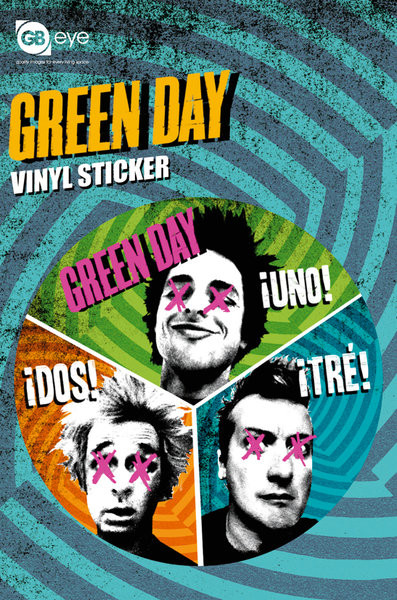 GREEN DAY - trio Autocolant