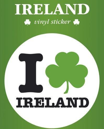 IRELAND I LOVE Autocolant