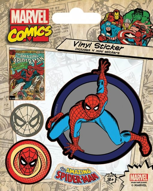 Marvel Comics - Spider-Man Retro Autocolant