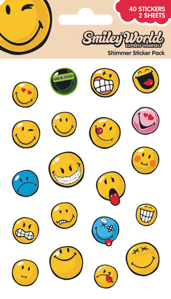 Smiley - Expressions (Shimmer) Autocolant