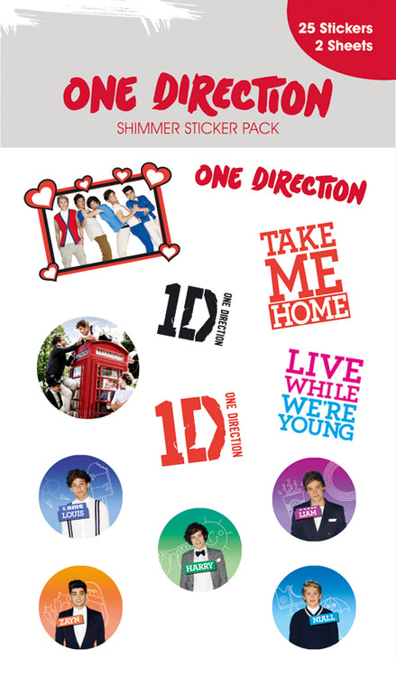 ONE DIRECTION - shimmer with glitter Autocollant