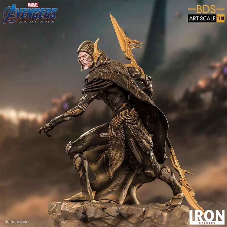 Statuetta Avengers: Endgame - Black Order Corvus Glaive