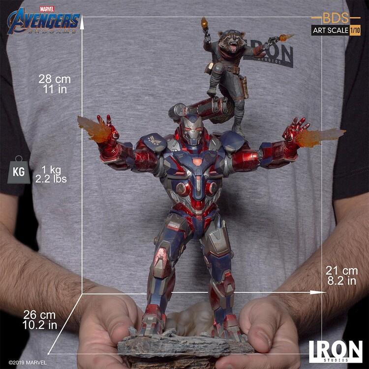 Figurita Avengers: Endgame - Iron Patriot & Rocket