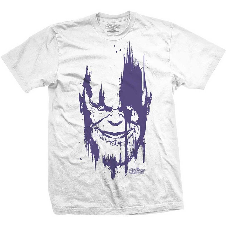 T-Shirt  Avengers - Infinity War Thanos Head Purple