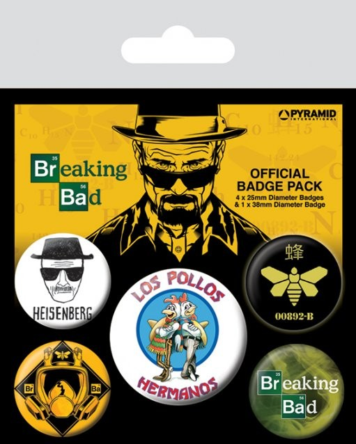 Breaking Bad - Los Pollos Hermanos Badges pakke