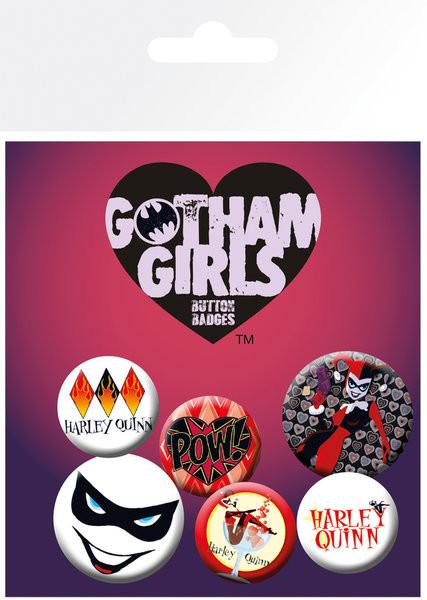 DC Comics - Gotham Girls Harley Quinn Badges pakke