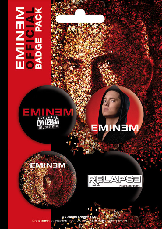 EMINEM - relapse Badges pakke