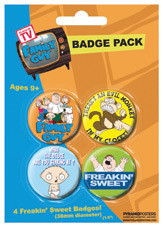 FAMILY GUY Badges pakke