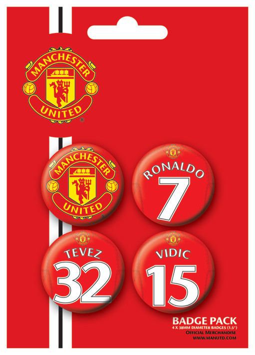 MANCH. UNITED - Players 1 Badges pakke