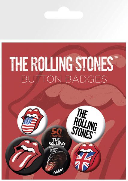 ROLLING STONES Badges pakke