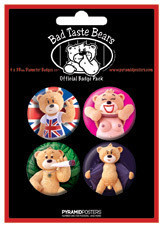 Badge BAD TASTE BEARS - Risque