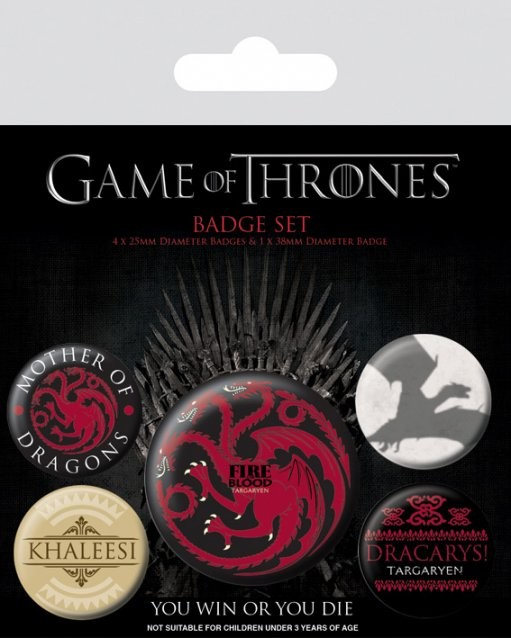 Badges Game of Thrones - Fire and Blood