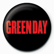 GREEN DAY - RED LOGO Badge