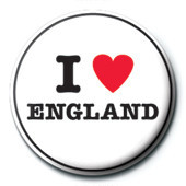 I Love England Badge
