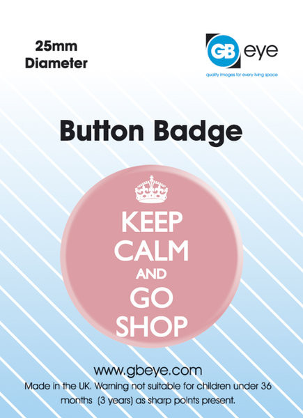KEEP CALM & GO SHOP Badge