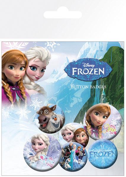 Set de badges La Reine des neiges - mix