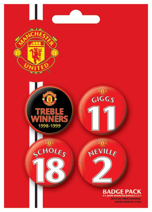 Badge MANCH. UNITED - Treble winner