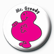 MR MEN (Mr Greedy) Badges