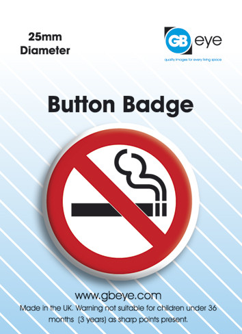 No Smoking Badge