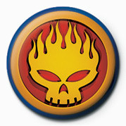 OFFSPRING - FLAME  HEAD Badge