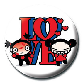 PUCCA - love sign Badges