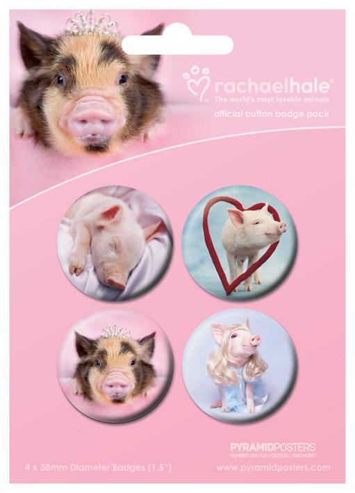 Badge RACHAEL HALE - prasátka