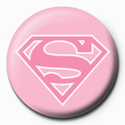 SUPERMAN - logo/pink Badge