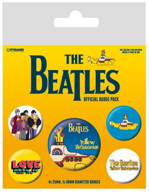 The Beatles - Yellow Submarine Badges