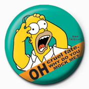 THE SIMPSONS - homer screamin' Badge