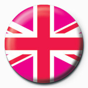 Union Jack (Pink) Badge