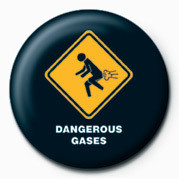 WARNING SIGN - DANGEROUS G Badge