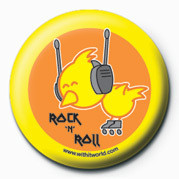 WITH IT (ROCK 'N' ROLL) Badge