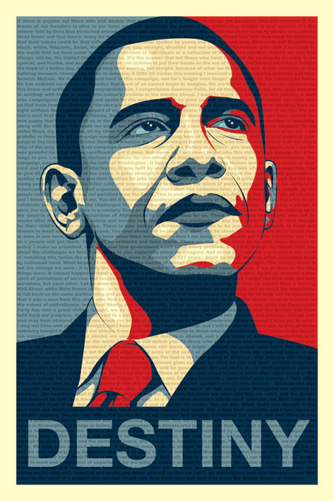 Barack Obama - fateful speech - плакат (poster)