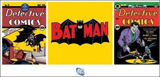 Batman (A denevérember) - Triptych Festmény reprodukció