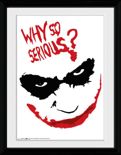 Batman: A sötét lovag - Smile üveg keretes plakát