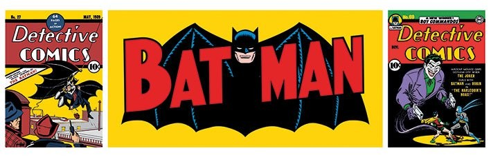 BATMAN - triptych - плакат (poster)