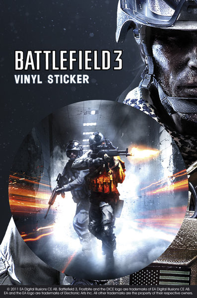 Battlefield 3 – co.op Autocolant