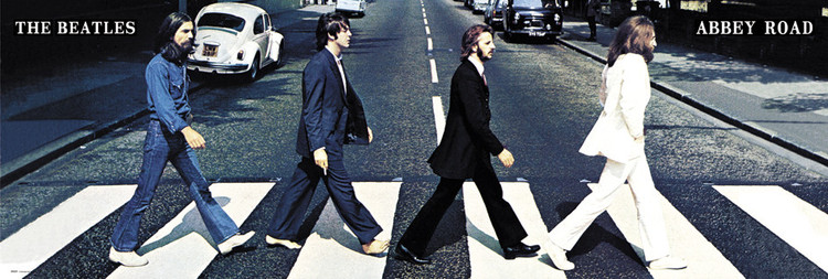 Beatles - abbey road - плакат (poster)