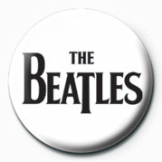 BEATLES (BLACK LOGO) Insignă