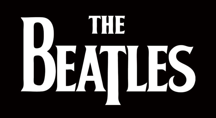 BEATLES - white logo Autocolant