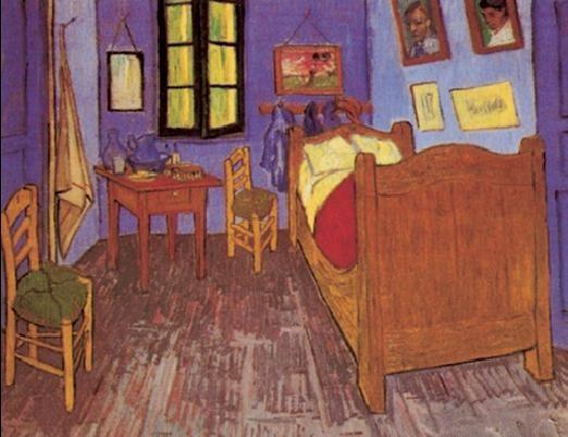 Bedroom in Arles, 1888 Festmény reprodukció