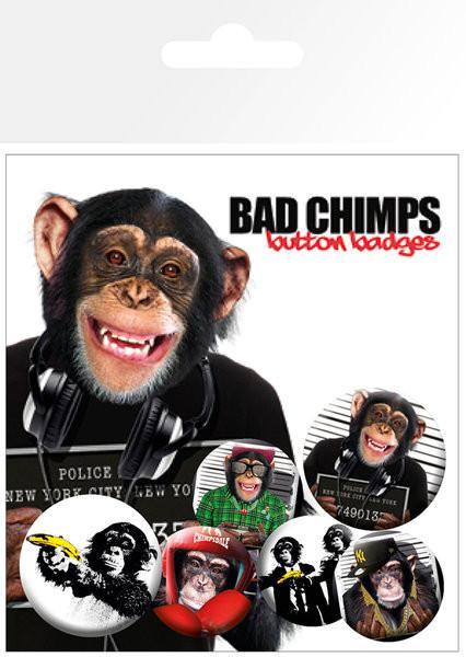 Set bedževa BAD CHIMPS