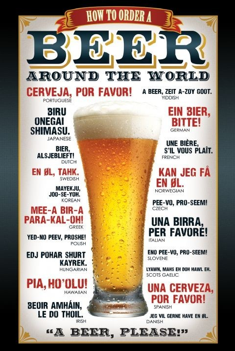 Beer – how to order - плакат (poster)