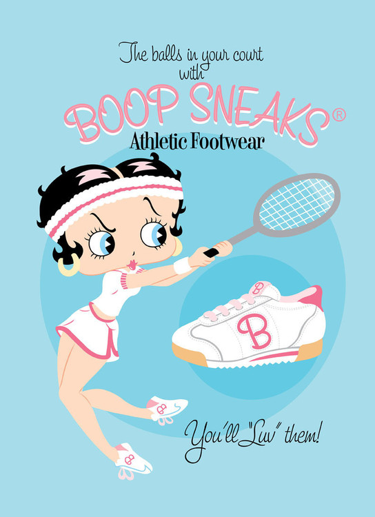 BETTY BOOP SNEAKS Metalen Wandplaat