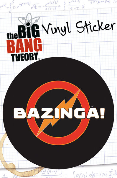 BIG BANG THEORY – bazinga Autocolant
