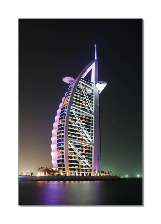 Burj Al Arab at night Moderne bilde