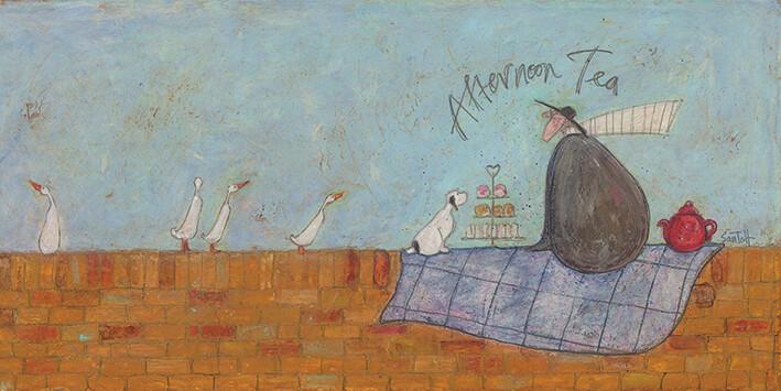 Canvastavla Sam Toft - Afternoon tea