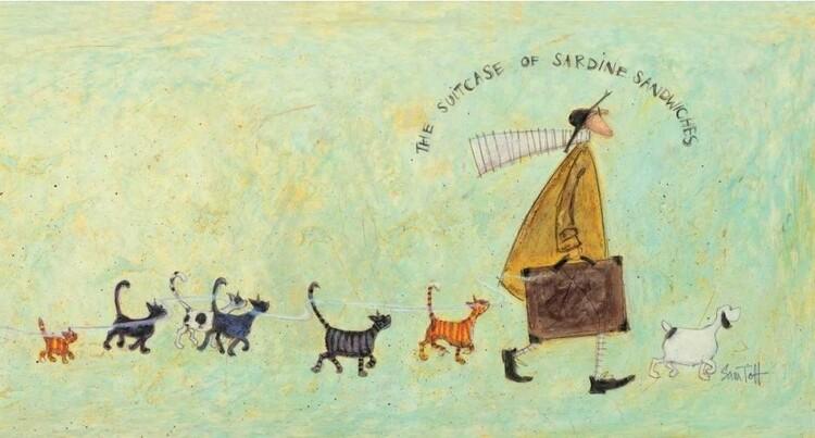 Canvastavla Sam Toft - The suitcase of sardine sandwiches