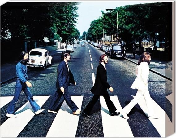 Bilden på canvas Beatles - Abbey road
