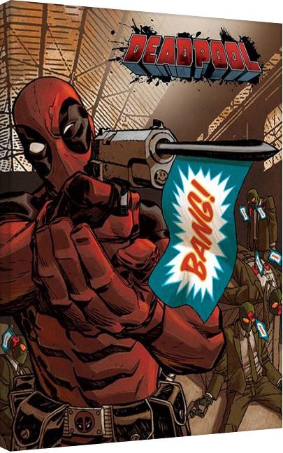 Bilden på canvas Deadpool-Bang